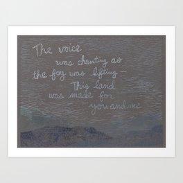 Words by Woody Guthrie Art Print
