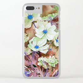 FLOWER PATTERN7 Clear iPhone Case