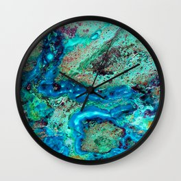 Chrysocolla Veins Wall Clock