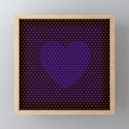Blue Heart Under Red. Framed Mini Art Print