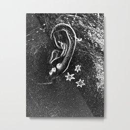 Three stars bw Metal Print