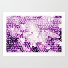 Pattern 8 - Grape kisses Art Print