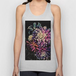 Autumn Dahlia Floral Bouquet Unisex Tank Top