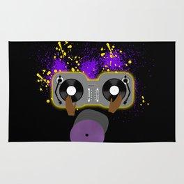 Purple DJ Spinning Rug