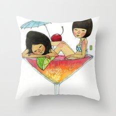 Summer Babies Throw Pillow