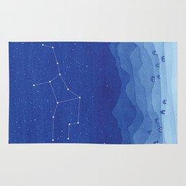 Virgo constellation, mountains Rug