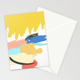 mininal century brush painted VIl Stationery Cards