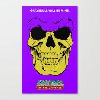 skeletor Canvas Prints featuring Skeletor by Dukesman