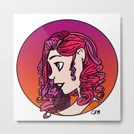 Girl in Pink Metal Print