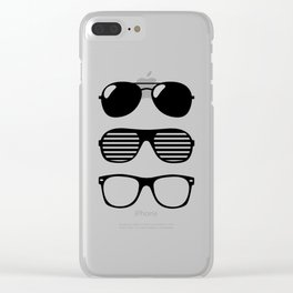 set of sunglasses Clear iPhone Case