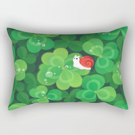 Happy lucky snail Rectangular Pillow