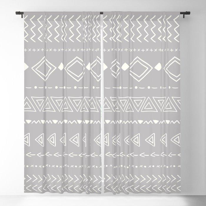 Indigo geometric Blackout Curtain