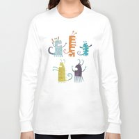vegetarian Long Sleeve T-shirts featuring Secretly Vegetarian Monsters by Nic Squirrell