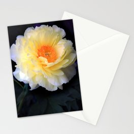 Yellow Peony Stationery Cards