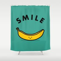 banana Shower Curtains featuring Banana by Jaco Haasbroek