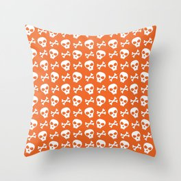 Skull & Crossbones // Halloween Collection Throw Pillow