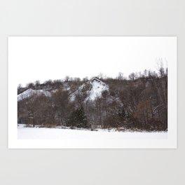 Scarborough Bluffs in Winter on December 27th, 2020. X Art Print