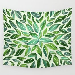 Spring Leaf Mandala Wall Tapestry
