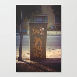Wish You Were Here [Los Angeles] Canvas Print