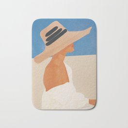 Summer Hat Bath Mat