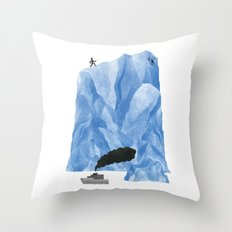The Living Iceberg Cousin Throw Pillow