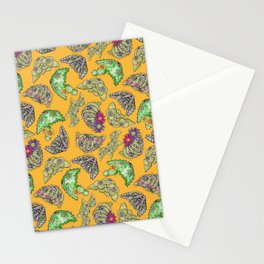 """""""Oro?"""" Cactus with Flower Mustard Stationery Cards"""