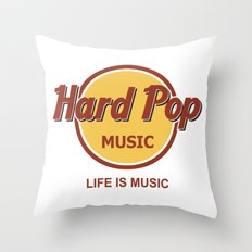 Hard Pop Music Throw Pillow