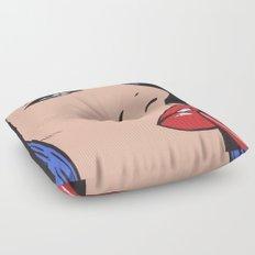Blue Lipstick Floor Pillow