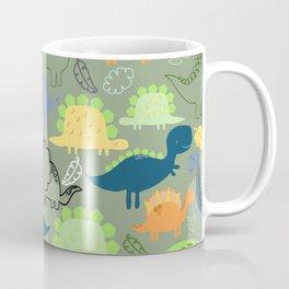 Dinosaurs jungle pattern Coffee Mug