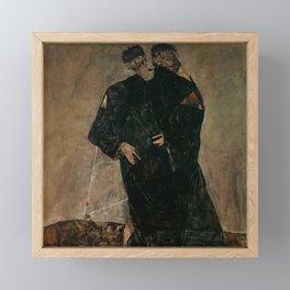 "Egon Schiele ""The Hermits"" Framed Mini Art Print"