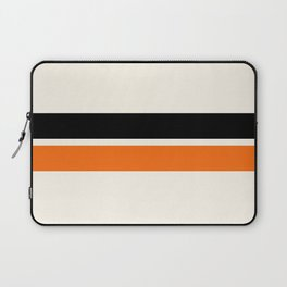 2 Stripes Black Orange Laptop Sleeve
