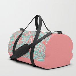 Liquid Swirl - Peach and Green Duffle Bag
