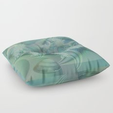 Fantasy ocean with shells and fish Floor Pillow