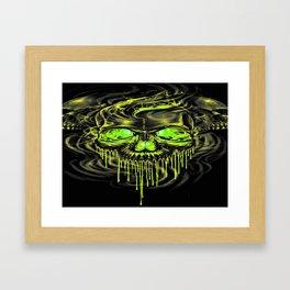 Glossy Yella Skeletons Framed Art Print