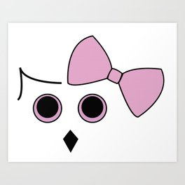 Owls and Bow No. 4 Art Print