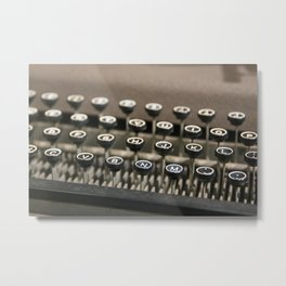 An old fashioned type writer Metal Print