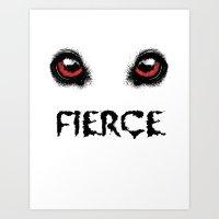 fierce Art Prints featuring Fierce by Nicolekay