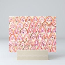 Pink Rainbows Mini Art Print