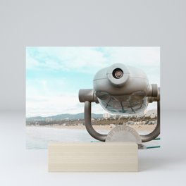Travel photography Santa Monica V the view ahead Mini Art Print