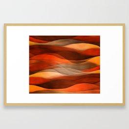 """Sea of sand and caramel waves"" Framed Art Print"