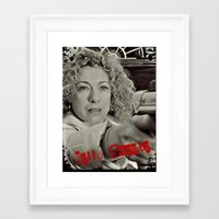 river song Framed Art Prints featuring River Song; Hello Sweetie. by Art Corner