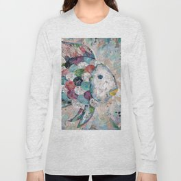 Rainbow Fish Collage Long Sleeve T-shirt