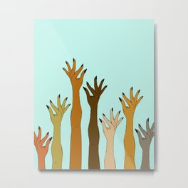 Hands Don't Judge - Size Don't Matter ... NOT! ;) Metal Print