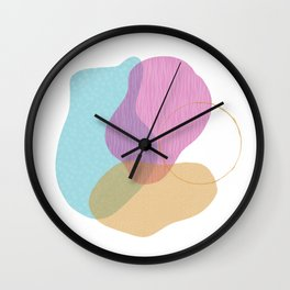 Abstract - colors and textures Wall Clock