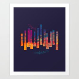 Piano Color Art Print