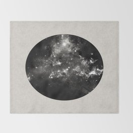 God's Window - Black And White Space Painting Throw Blanket