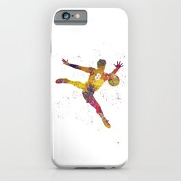 Soccer player isolated 01 in watercolor iPhone Case