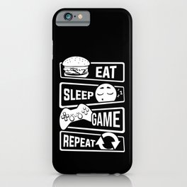 Eat Sleep Game Repeat | Video Game Console Gaming iPhone Case