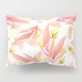 pink exotic floral Pillow Sham