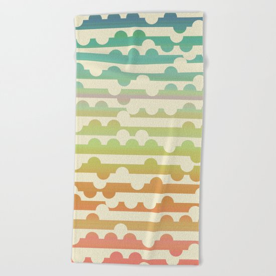 Retrometry VII Beach Towel